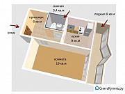 1-комнатная квартира, 39 м², 4/10 эт. Томск