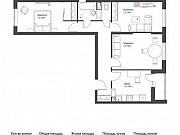 3-комнатная квартира, 72.2 м², 16/17 эт. Томилино