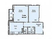 2-комнатная квартира, 56.5 м², 6/16 эт. Барнаул
