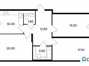 3-комнатная квартира, 88.2 м², 10/17 эт. Мытищи