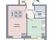 1-комнатная квартира, 36,5 м², 4/6 эт. Воронеж