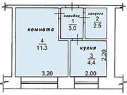 1-комнатная квартира, 22.3 м², 2/5 эт. Стрежевой